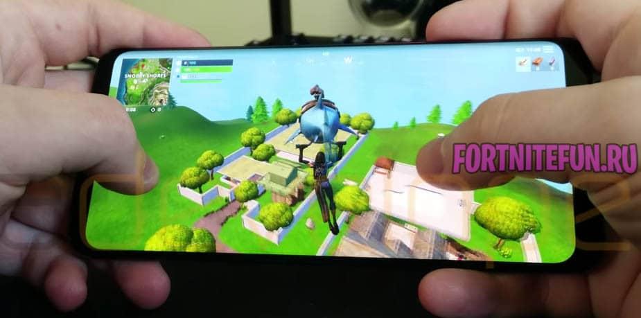 Геймплей fortnite mobile