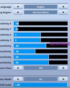 ninja fortnite settings 239x300 - Ninja Fortnite игровые настройки
