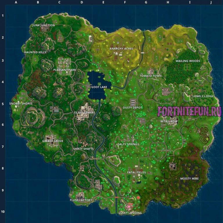 Fortnite Map Season 2 - Карта фортнайт