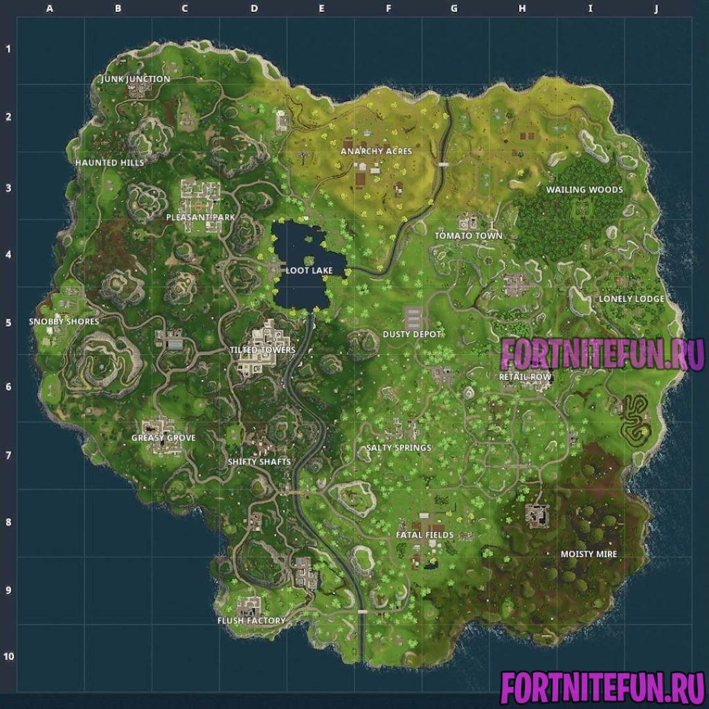 Fortnite Map V 3 1024x1024 - Карта фортнайт