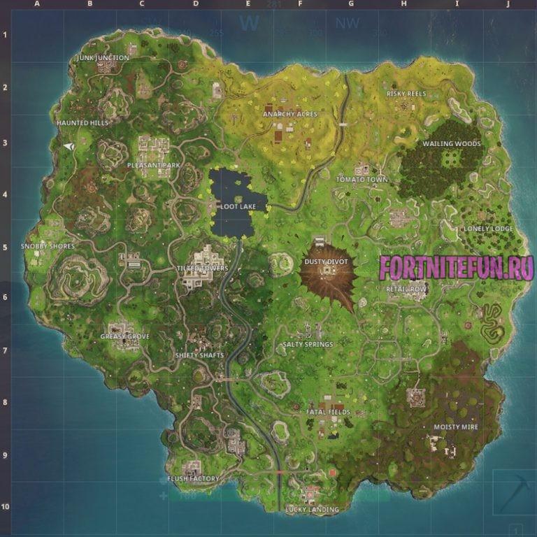 Fortnite Map V.4.0 - Карта фортнайт