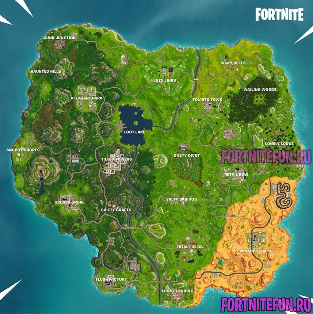Fortnite Season 5 Map 1021x1024 - Карта фортнайт