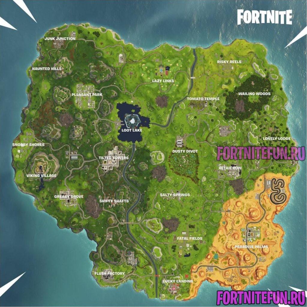 Fortnite v6.0 Map 1024x1024 - Карта фортнайт