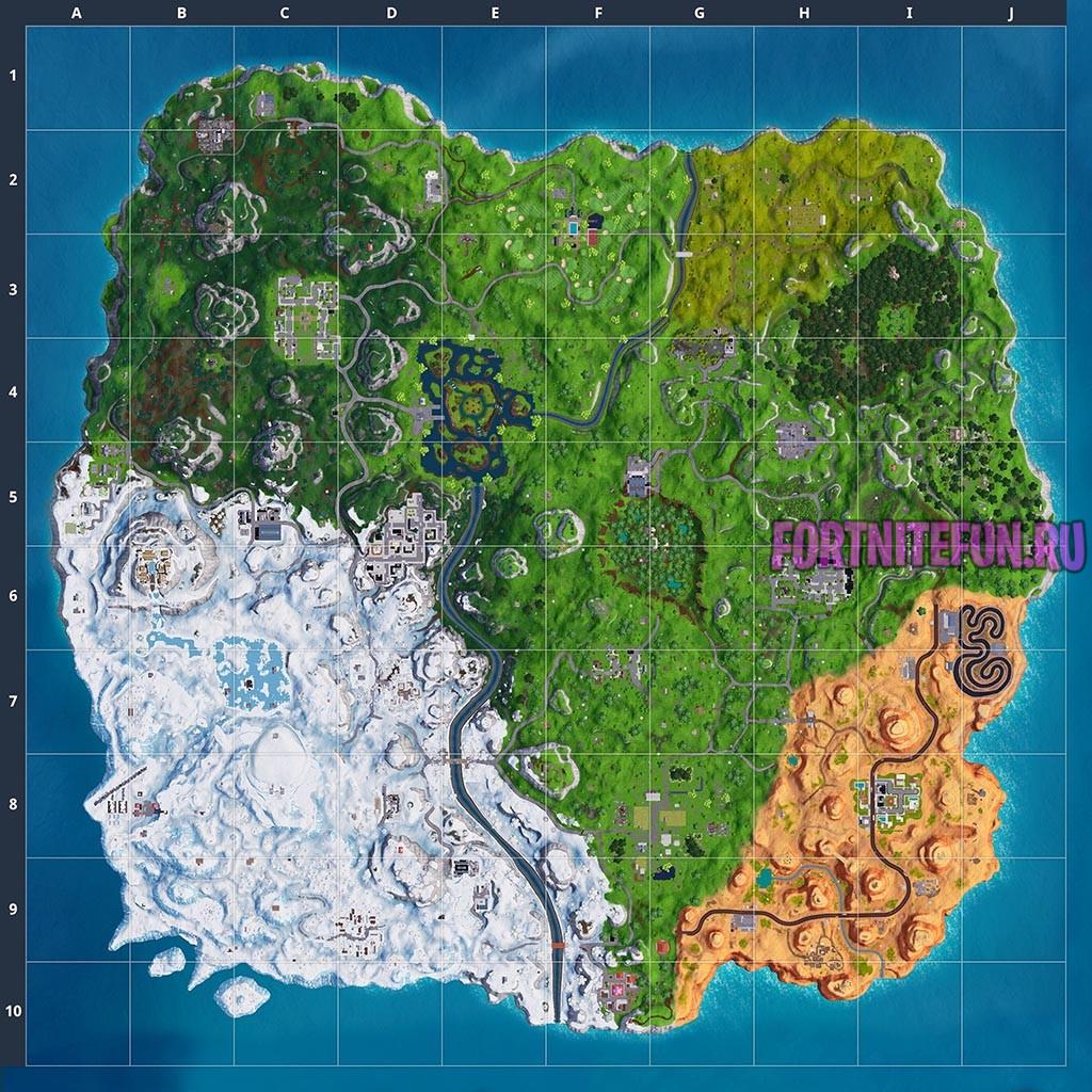 maps 7 season - Карта фортнайт