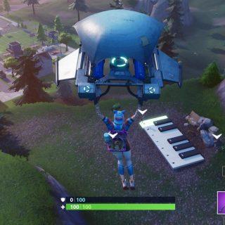 приятный парк пианино