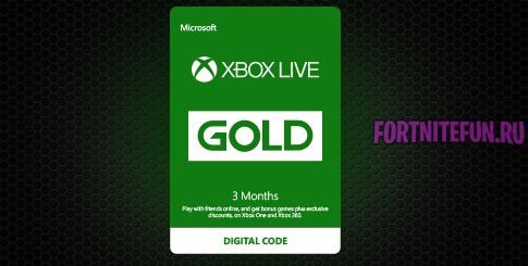 3monthsxblg 485x245 - 3 месяца Xbox Live Gold + 1000 В-баксов