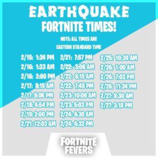 fissures time 320x320 - Событие Землетрясение в фортнайт - график