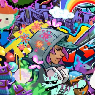 Spray Collage