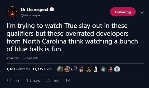 DrDisrespect - Dr.Disrespect продолжает критиковать Epic Games