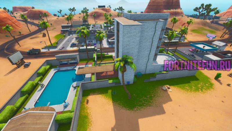 Fortnite Screenshot d 18.57 800x450 - Изменения карты в обновлении v10.1 - Возвращение Торговой точки, памятники Кубу и другое