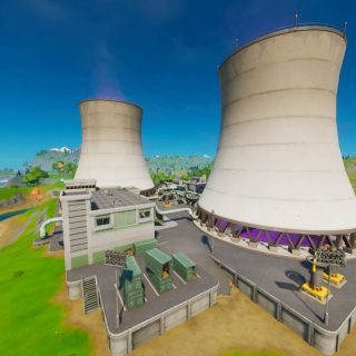 Гигантские градирни (Steamy stacks) - локация фортнайт