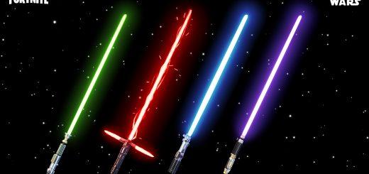 """Звездных войн в фортнайт 520x245 - Скины """"Звездные войны"""" и световой меч вернулись в игру / День Звездных войн в фортнайт"""