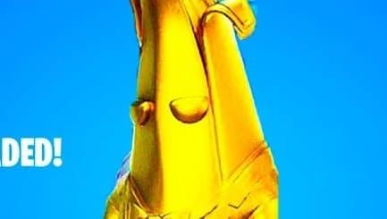 Игрок получил более 500 уровней в фортнайт во 2 сезоне Золотой банан