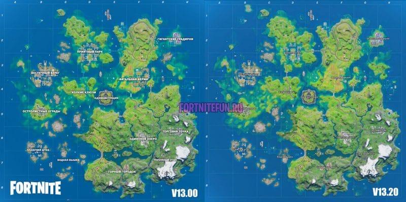 карты фортнайт 13 800x398 - Неофициальное описание обновления v13.20