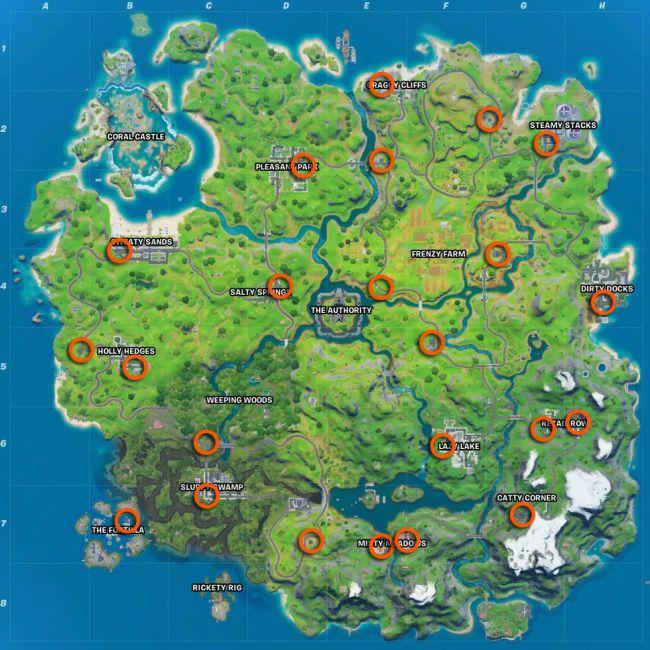 фортнайт - Испытания 8-й недели 13 сезона фортнайт — чит-карты и прохождение