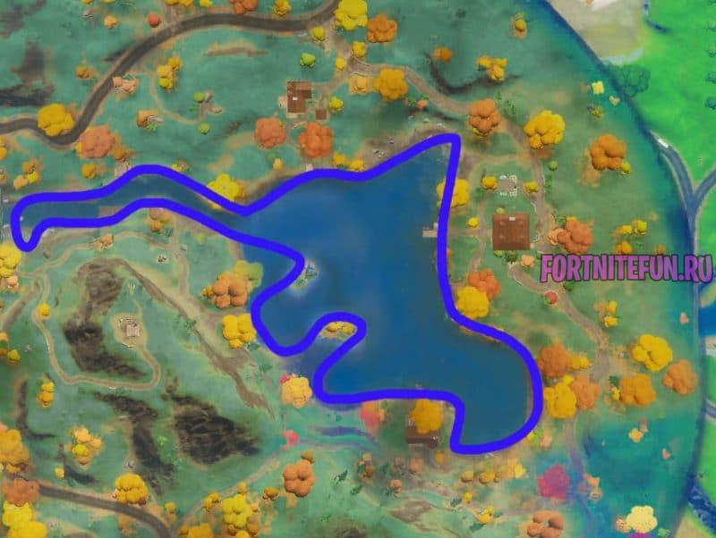 в озере 800x602 - Испытания 10 недели 14 сезона фортнайт — чит-карты и прохождение