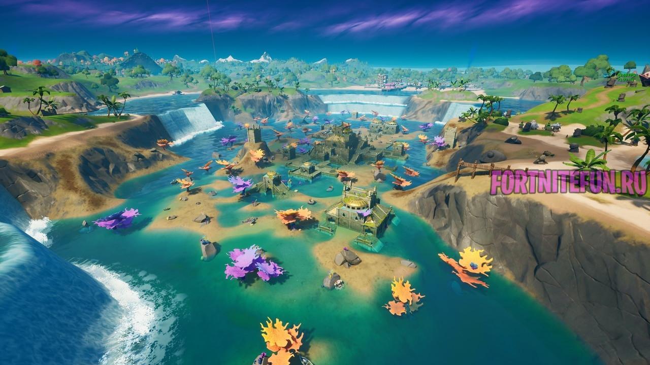 крепость в фортнайт 1 - Коралловая крепость будет разрушена в обновлении 17.40