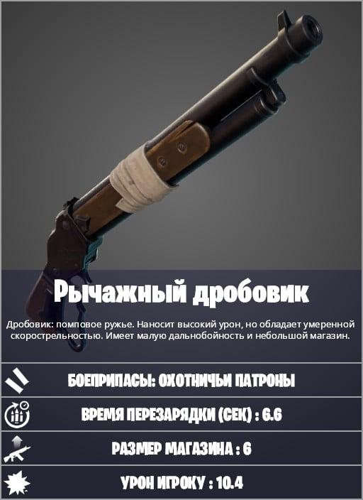 дробовик в фортнайт 1 - Новое оружие патча 15.20: Рычажный дробовик и Двойные гравикамни