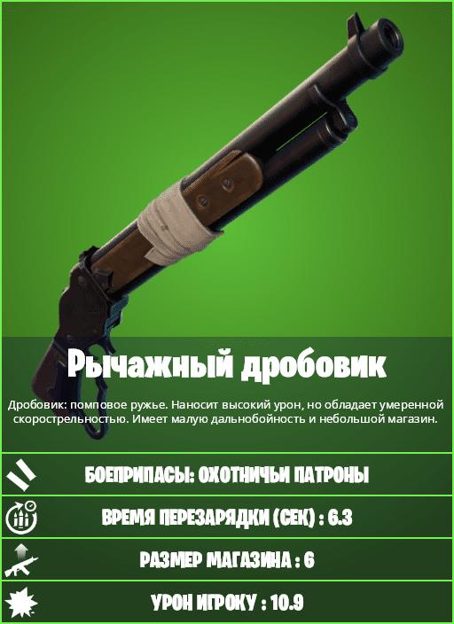 дробовик в фортнайт 2 - Новое оружие патча 15.20: Рычажный дробовик и Двойные гравикамни