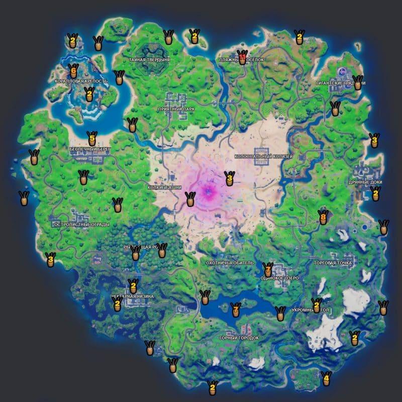 бочки с удочками 800x800 - Эпические испытания 6-й недели в фортнайт — чит-карты и прохождение
