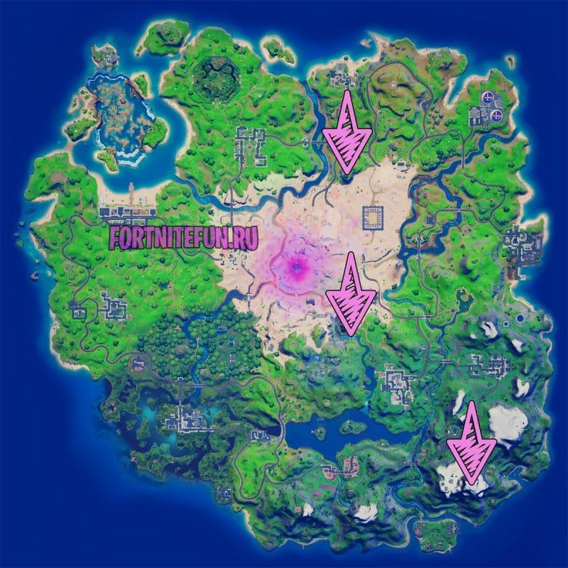 Панорамную площадку Великий водопад и Высокую гору 1 800x800 - Эпические испытания 12-й недели в фортнайт — чит-карты и прохождение