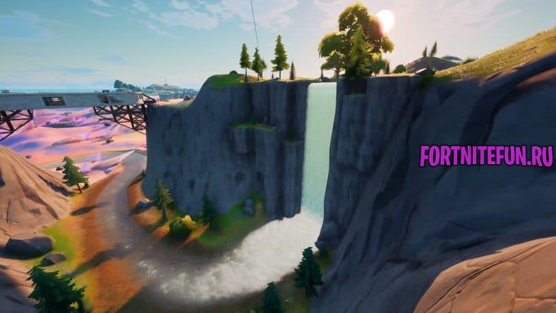 Панорамную площадку Великий водопад и Высокую гору 4 800x450 - Эпические испытания 12-й недели в фортнайт — чит-карты и прохождение