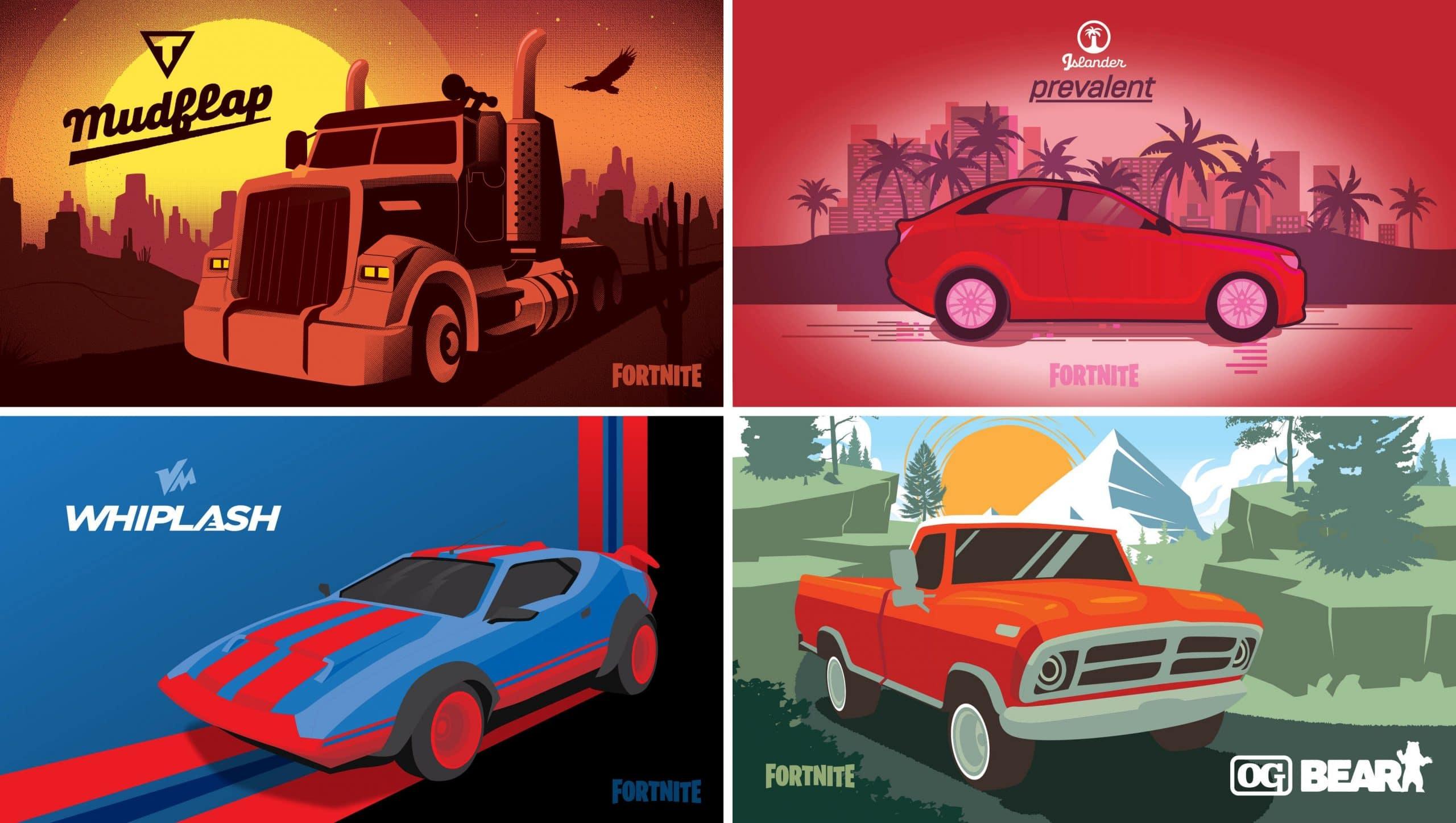 машины - В 16 сезоне фортнайт появятся боссы-машины и персонажи на транспорте