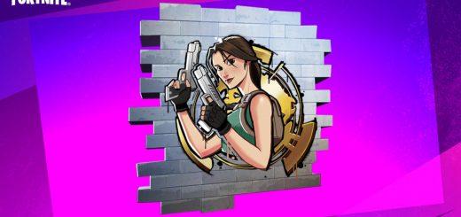 на бесплатное получение граффити Лары Крофт в фортнайт 520x245 - Код на бесплатное получение граффити Лары Крофт в фортнайт