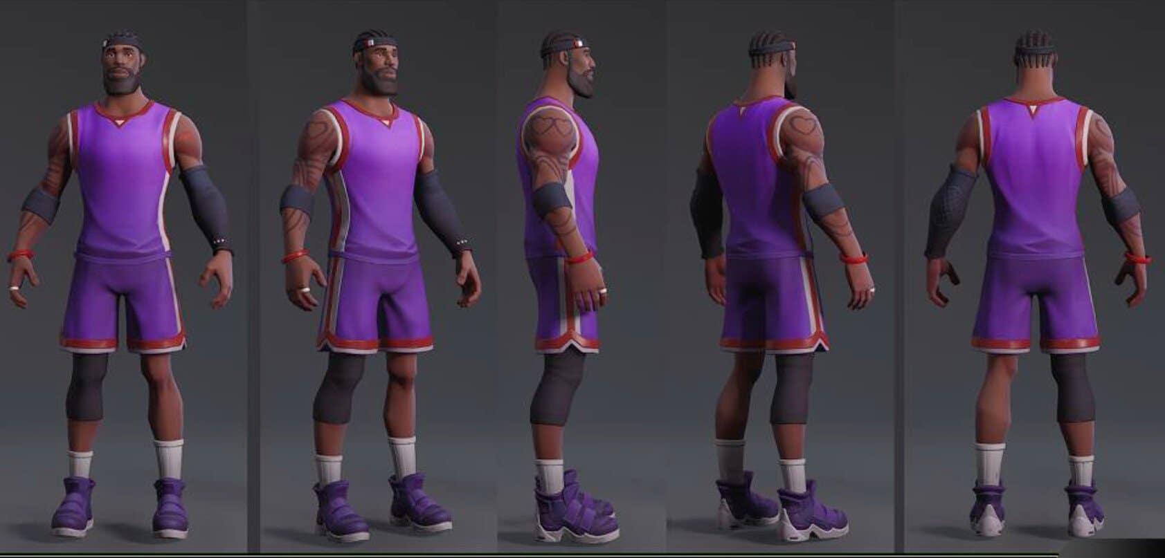 Леброна джеймса в фортнайт - Баскетбольный ивент NBA в фортнайт: испытания на В-баксы и скин Леброна
