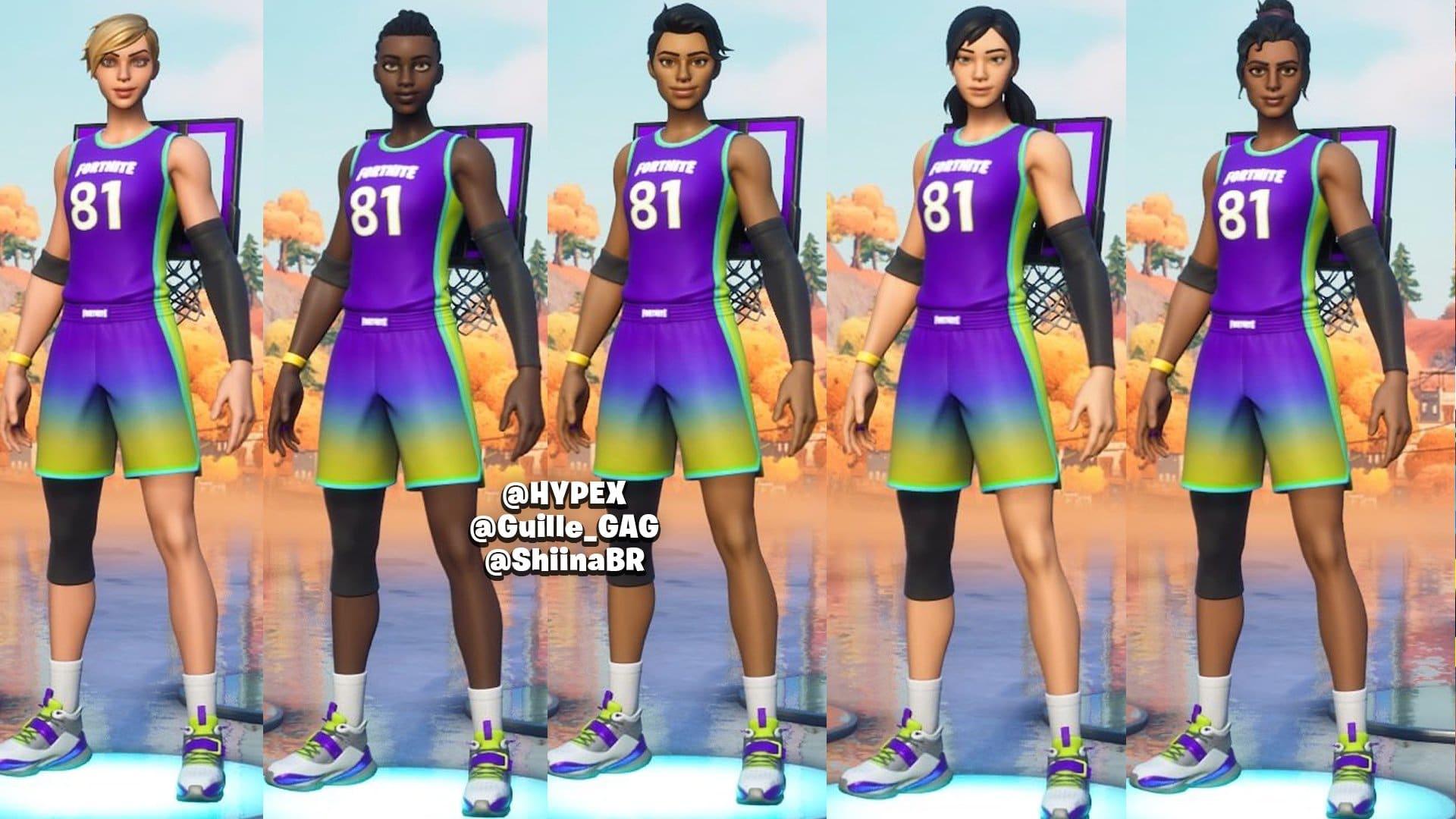 скинов баскетбольного ивента НБА в фортнайт 2 - Сливы скинов баскетбольного ивента НБА в фортнайт