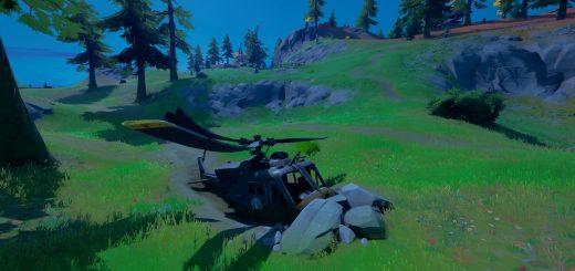 Изучите упавший черный вертолет