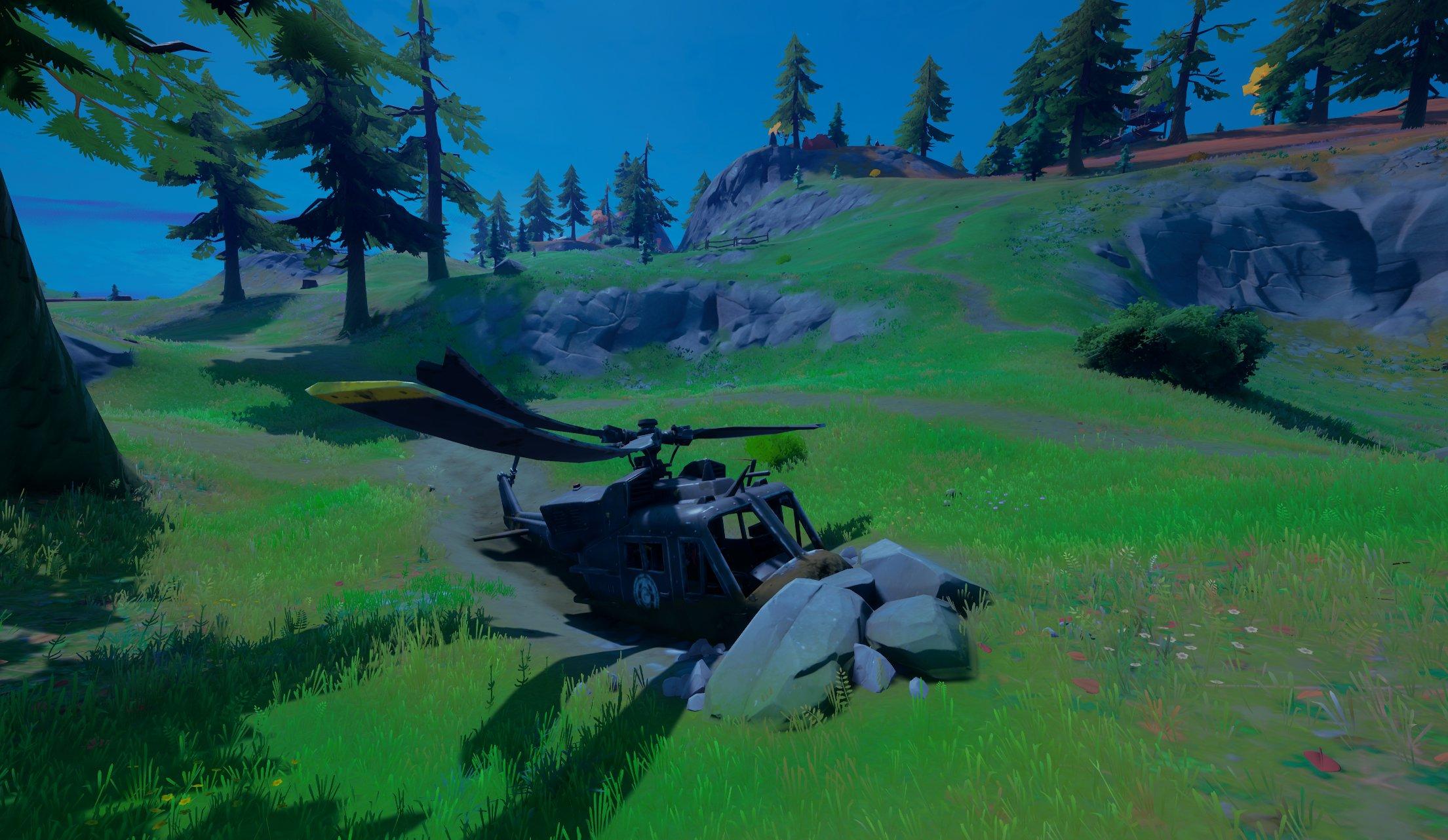 E2OTeGiXIAIXyip - Изучите упавший черный вертолет / Сюжетное испытание фортнайт