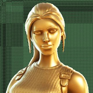 transparent 320x320 - Золотая Лара Крофт в фортнайт / Как получить золотой стиль