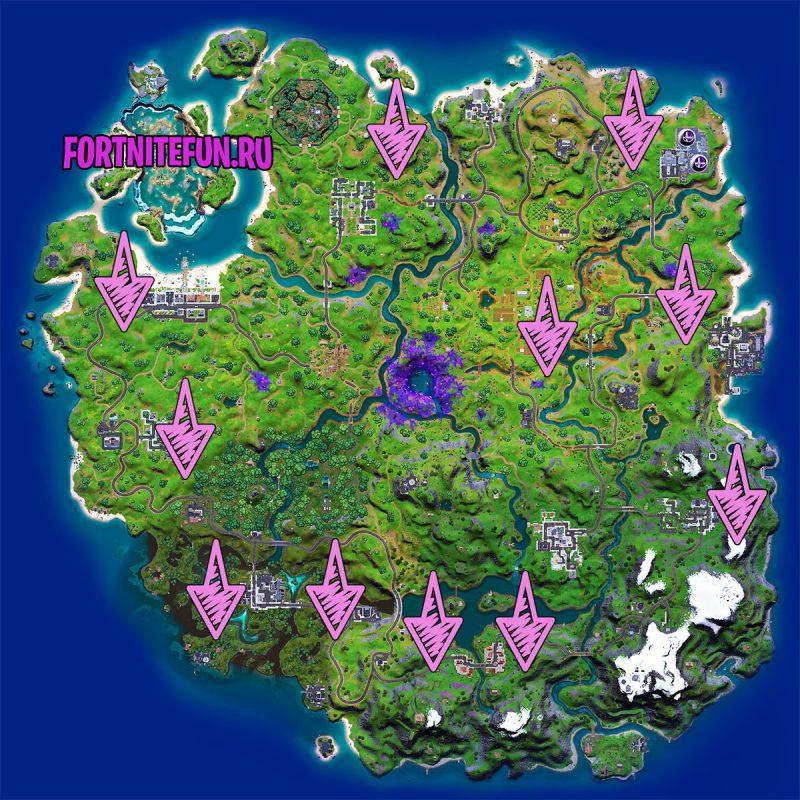 сундуки карта фортнайт 1 800x800 - Где найти новые космические сундуки в 17 сезоне фортнайт?
