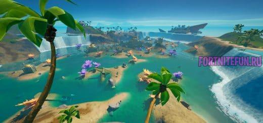 Коралловая крепость в фортнайт