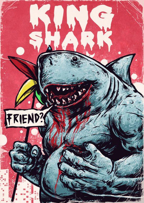 акул отряд самоубийц  566x800 - Миротворец, Король Акул и Ласка из Отряда самоубийц могут появиться в фортнайт