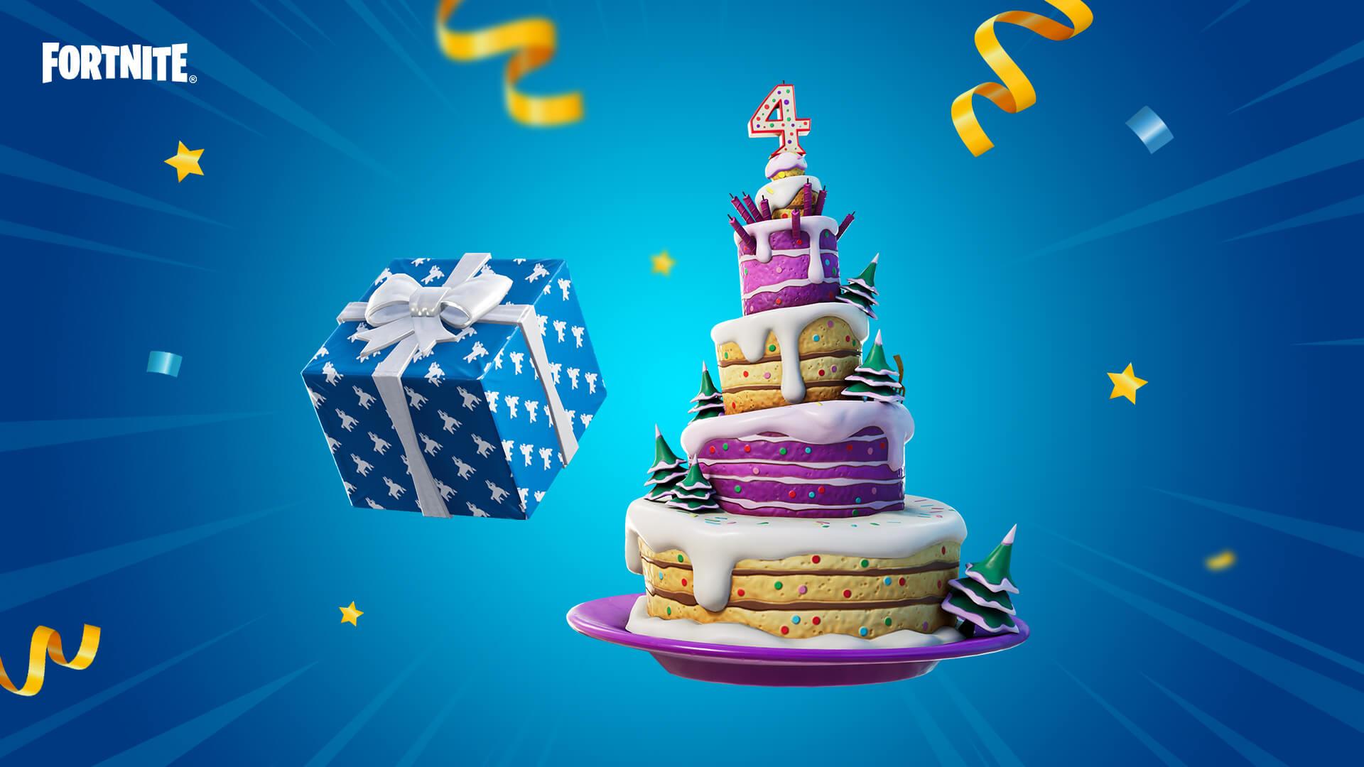 битва фортнайт празднует свое четвертое день рождения 1 - Королевская битва фортнайт празднует день рождения!