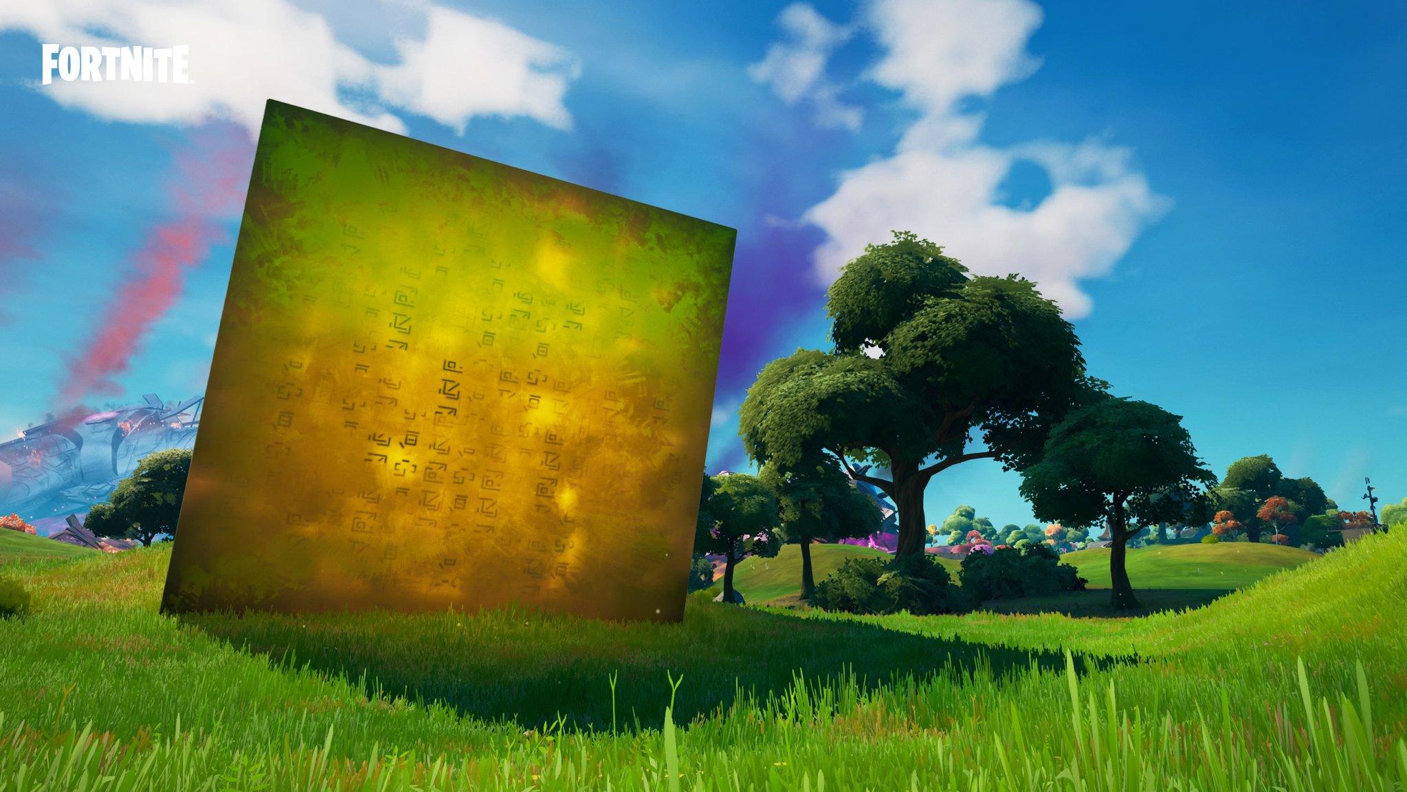планируют объединиться и разрушить остров фортнайт 2 - Золотой куб активировал фиолетовый куб у Пляжа Прибытия
