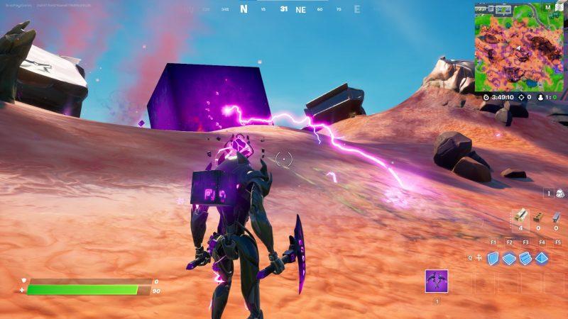 куба в фортнайт 800x450 - У Фиолетового куба возле Пляжа Прибытия появились дети!