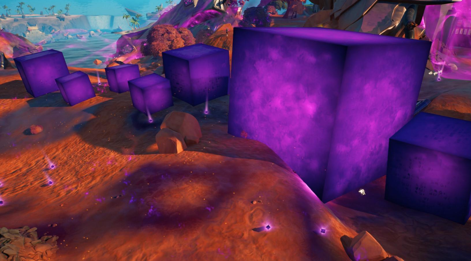 в фортнайт - Из Градирен вышел новый фиолетовый куб и он не похож на других